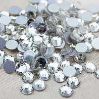Стразы клеевые SS34 7,3-7,5 мм стекло кристалл