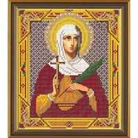 Рисунок на ткани для вышивки бисером Св. Татиана