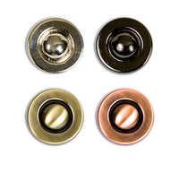 """Кнопки 17 мм металл JK 011 """"Micron"""" 36 шт №06 черный никель"""