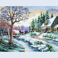 Набор для вышивания Dimensions Зима
