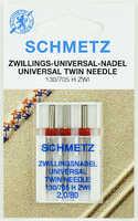Иглы двойные универсальные № 80/2 Schmetz 130/705H ZWI NE (3 шт/уп)