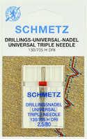 Иглы тройные №80/2,5 Schmetz 130/705H DRI NE (1 шт/уп)