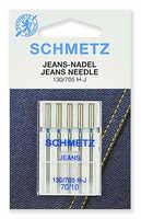 Иглы джинс № 70 Schmetz 130/705H 5 шт